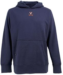 Virginia Mens Signature Hooded Sweatshirt (Color: Navy)