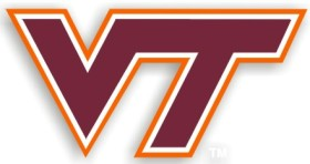 Virginia Tech 12 Inch Individual Car Magnet
