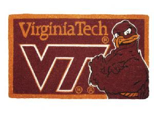 Virginia Tech 18x30 Bleached Welcome Mat