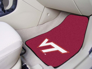 Virginia Tech 2 Piece Car Mats