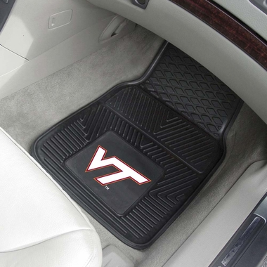 Virginia Tech 2 Piece Heavy Duty Vinyl Car Mats
