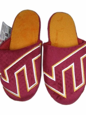 Virginia Tech 2011 Big Logo Hard Sole Slippers (Two Tone)