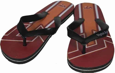 Virginia Tech 2012 Unisex Big Logo Flip Flops