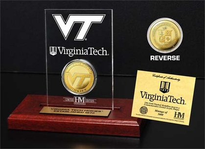 Virginia Tech Hoakies Virginia Tech 24KT Gold Coin Etched Acrylic