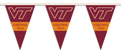Virginia Tech 25 Foot String of Party Pennants (P)