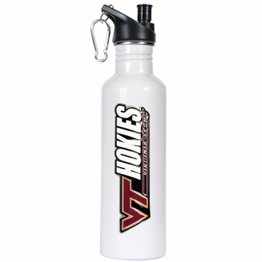 Virginia Tech 26oz Stainless Steel Water Bottle (White)