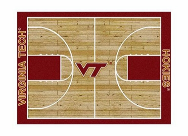 "Virginia Tech 3'10"" x 5'4"" Premium Court Rug"