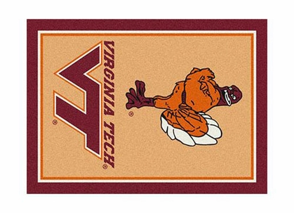 "Virginia Tech 3'10"" x 5'4"" Premium Spirit Rug"