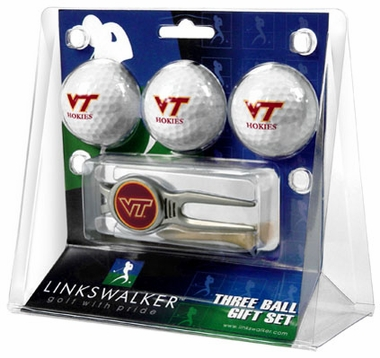 Virginia Tech 3 Ball Gift Pack With Kool Tool