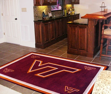 Virginia Tech 4 Foot x 6 Foot Rug