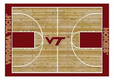 "Virginia Tech 5'4"" x 7'8"" Premium Court Rug"