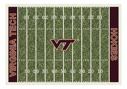 "Virginia Tech 5'4"" x 7'8"" Premium Field Rug"