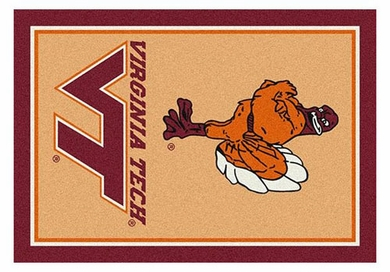 "Virginia Tech 5'4"" x 7'8"" Premium Spirit Rug"
