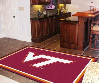Virginia Tech 5 Foot x 8 Foot Rug