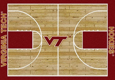 "Virginia Tech 7'8"" x 10'9"" Premium Court Rug"