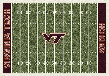 "Virginia Tech 7'8"" x 10'9"" Premium Field Rug"