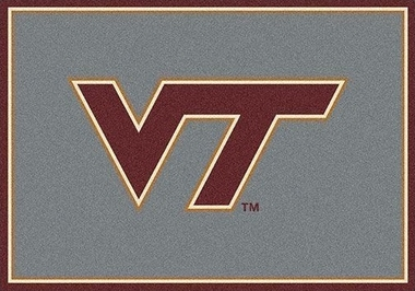 "Virginia Tech 7'8"" x 10'9"" Premium Spirit Rug"