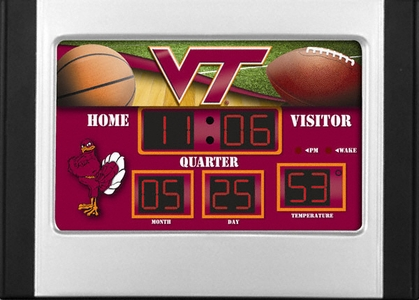 Virginia Tech Alarm Clock Desk Scoreboard