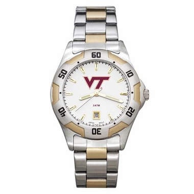 Virginia Tech All Pro Two Tone Watch
