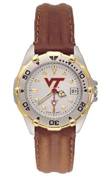 Virginia Tech All Star Womens (Leather Band) Watch