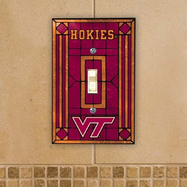Virginia Tech Art Glass Lightswitch Cover