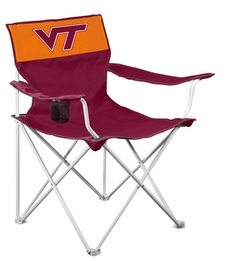 Virginia Tech Canvas Adult Folding Logo Chair