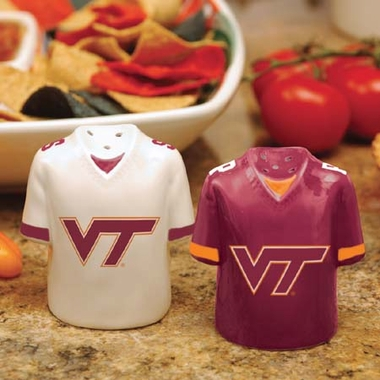 Virginia Tech Ceramic Jersey Salt and Pepper Shakers