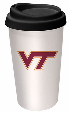 Virginia Tech Ceramic Travel Cup