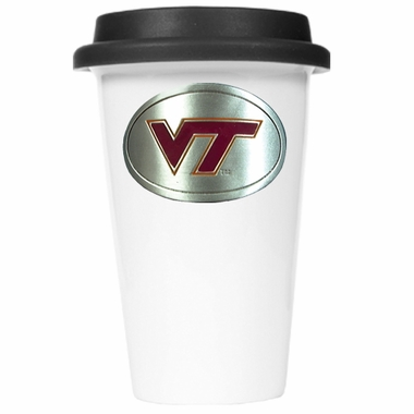 Virginia Tech Ceramic Travel Cup (Black Lid)
