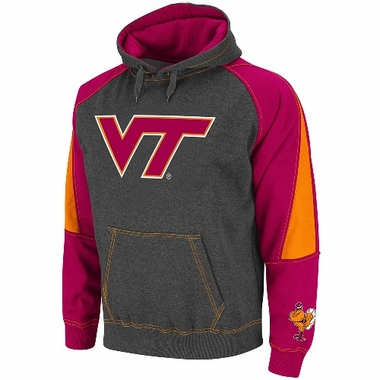 Virginia Tech Charcoal Playmaker Hooded Sweatshirt