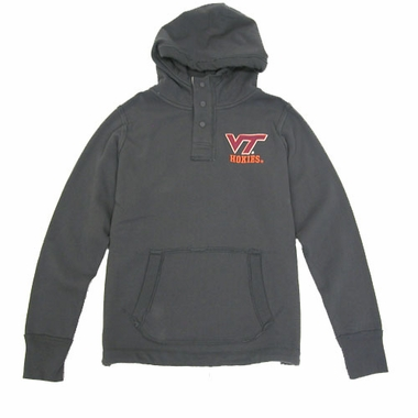 Virginia Tech Charcoal Velocity Hooded Sweatshirt
