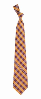 Virginia Tech Check Poly Necktie