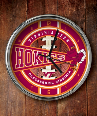 Virginia Tech Chrome Clock