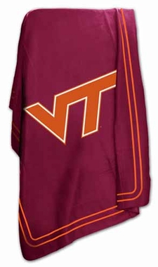 Virginia Tech Classic Fleece Throw Blanket