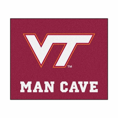 Virginia Tech Economy 5 Foot x 6 Foot Man Cave Mat