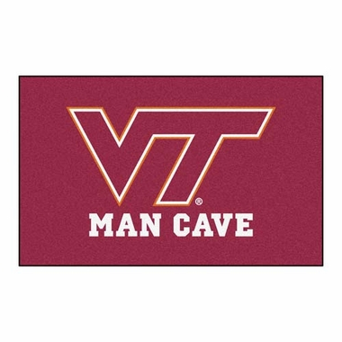 Virginia Tech Economy 5 Foot x 8 Foot Man Cave Mat