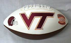 Virginia Tech Embroidered Foto Football