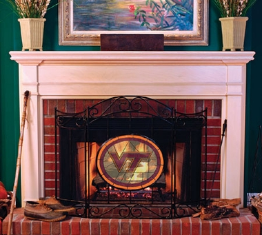 Virginia Tech Fireplace Screen