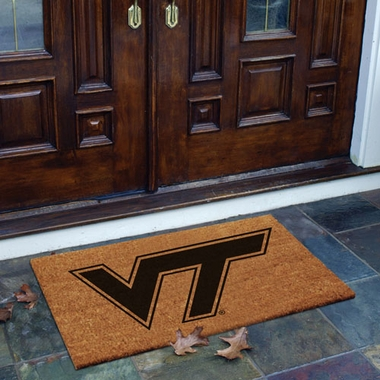Virginia Tech Flocked Coir Doormat