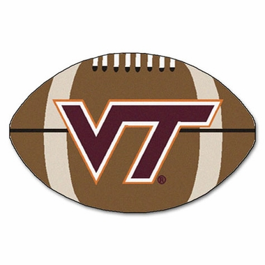 Virginia Tech Football Shaped Rug
