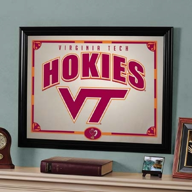 Virginia Tech Framed Mirror