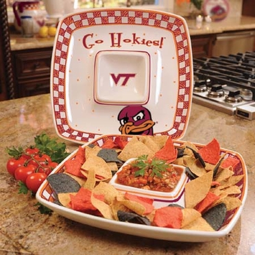 Virginia Tech Gameday Ceramic Chip and Dip Platter