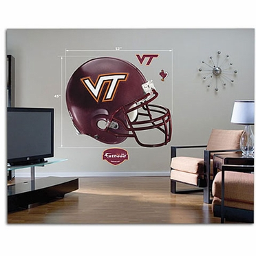 Virginia Tech Helmet Fathead Wall Graphic