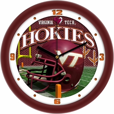 Virginia Tech Helmet Wall Clock