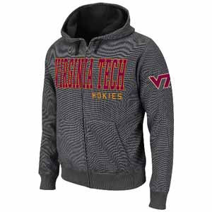 Virginia Tech Hero Full Zip Hooded Jacket - Large