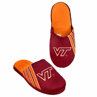 Virginia Tech Hokies 2012 Team Stripe Logo Slippers