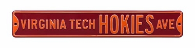 Virginia Tech Hokies Ave Street Sign