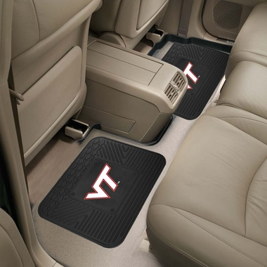 Virginia Tech SET OF 2 Heavy Duty Vinyl Rear Car Mats