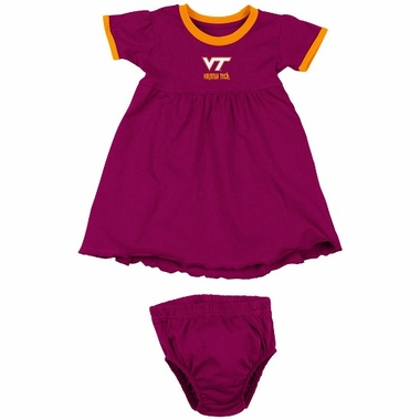 Virginia Tech Infant Girls Lola Dress w/ Bloomers