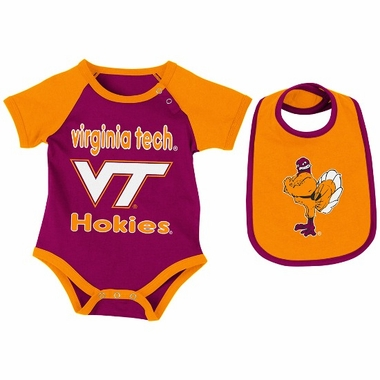 Virginia Tech Infant Rocker Onesie w/Bib